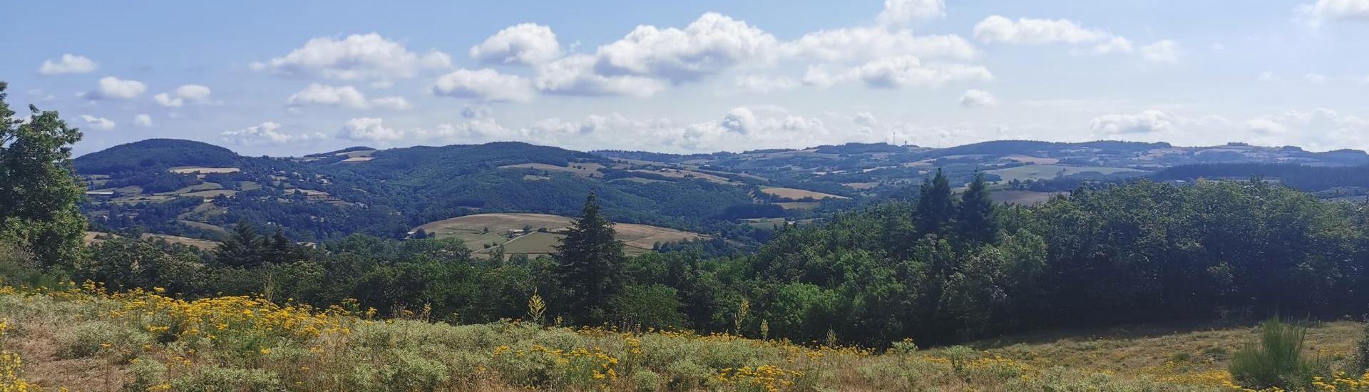 Paysage de l'Ardèche